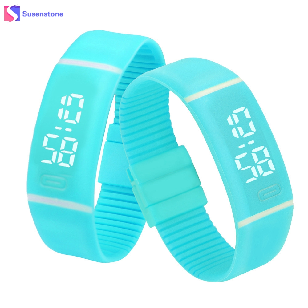 Men Women Rubber LED Watch Date Time Clock Fashion Leisure Sports Bracelet Watches Digital Wrist Watch Candy Color relogio factory men and women multi functional watches sports leisure watches the sleep time sport bluetooth watch