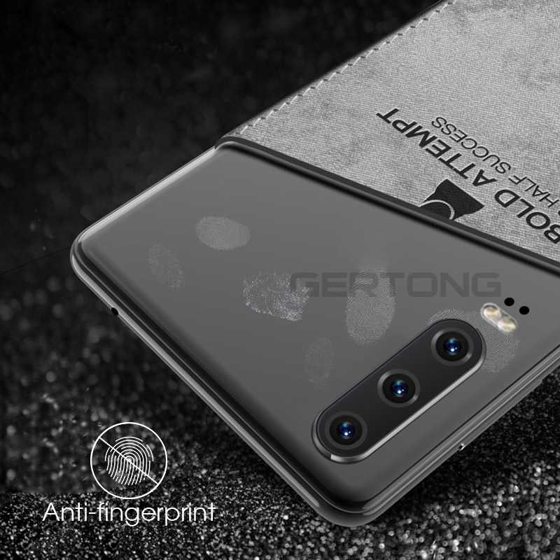 Kain untuk Huawei P30 Pro P20 P40 Lite Kain Matte Kulit Lembut Keras Kembali Penutup untuk Huawei P30 lite P20 P40 Pro Tritone