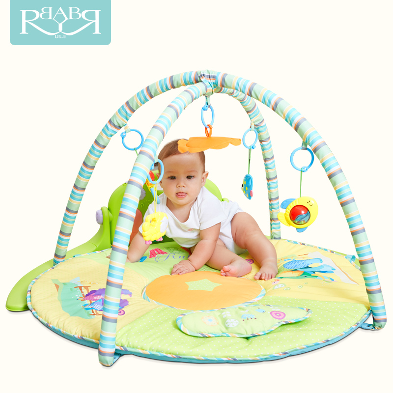 Babyruler Brand baby game mat with toys sports play ground playpen piano music toys sassy seat doorway jumper 5 toys with musical play mat