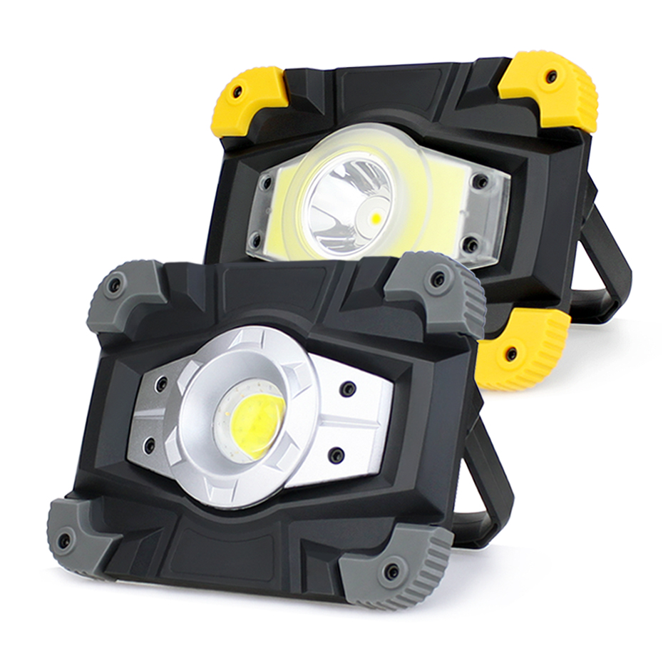 NEW BOXED YELLOW BLACK 37 LED RECHARGEABLE LANTERN WORK LIGHT TORCH SPOTLIGHT