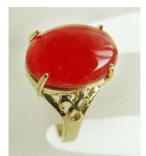 charming Jewelry red Jades ring(7,8,9,10)(China)