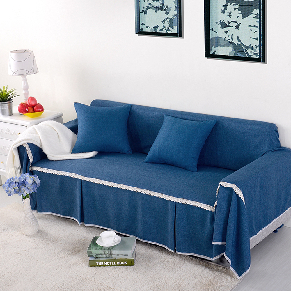 Blue Couch Slipcovers