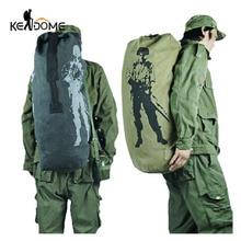 Универсальный холст тактический рюкзак рюкзаки Военная армейская сумка для мужчин женщин Открытый складной путешествия пеший Туризм Кемпинг Сумка XA549YL