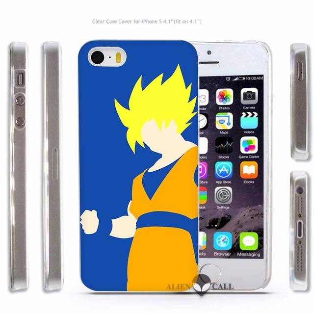 Dragon Ball Z Goku Hard Transparent Phone Case Cover Coque for Apple iPhone 4 4s 5 5s SE 5C 6 6s 7 Plus