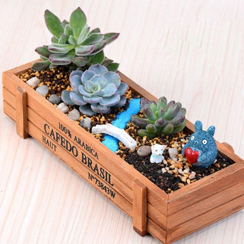 ᗑMadera plantador del jardín maceta caja de ventana flores ...