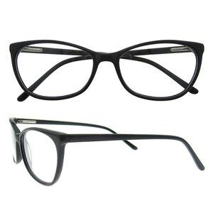 Image 5 - Spedizione gratuita moda acetato occhiali fatti a mano prescrizione lente medica occhiali da vista donna e uomo telaio ZOU