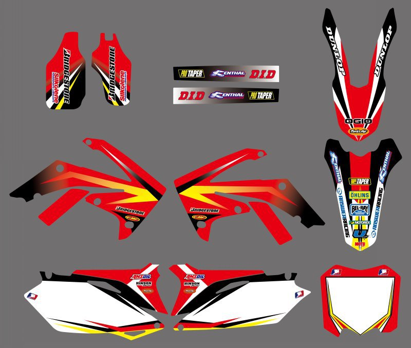 0600 NEW  TEAM  GRAPHICS&BACKGROUNDS DECAL STICKERS Kits  for Honda CRF250R CRF250 2010-2013 & CRF450R CRF450 2009 -2012 italmix web 0600 lava
