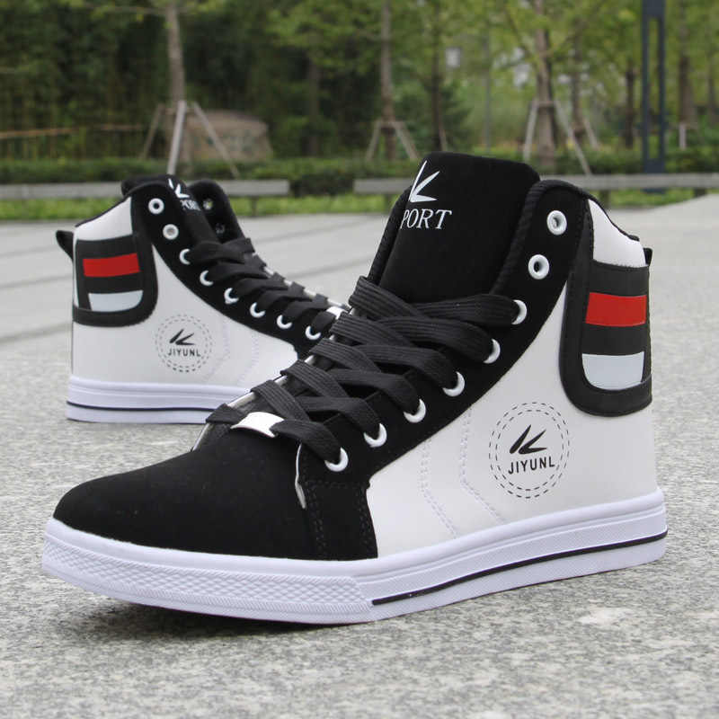 34e266dc9bb8 ... Brand Men High Shoes Mens Hip-Hop Casual Shoes 2018 Hot New Fashion  Breathable Comfortable ...
