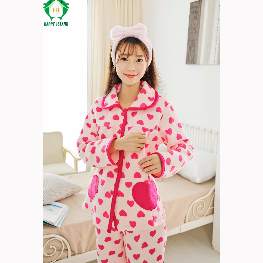 Flannel Pregnancy Clothing Winter Maternity Clothes Hamile Pijama Nursing Pajama Nightwear for Breastfeeding Pregnant Clothes
