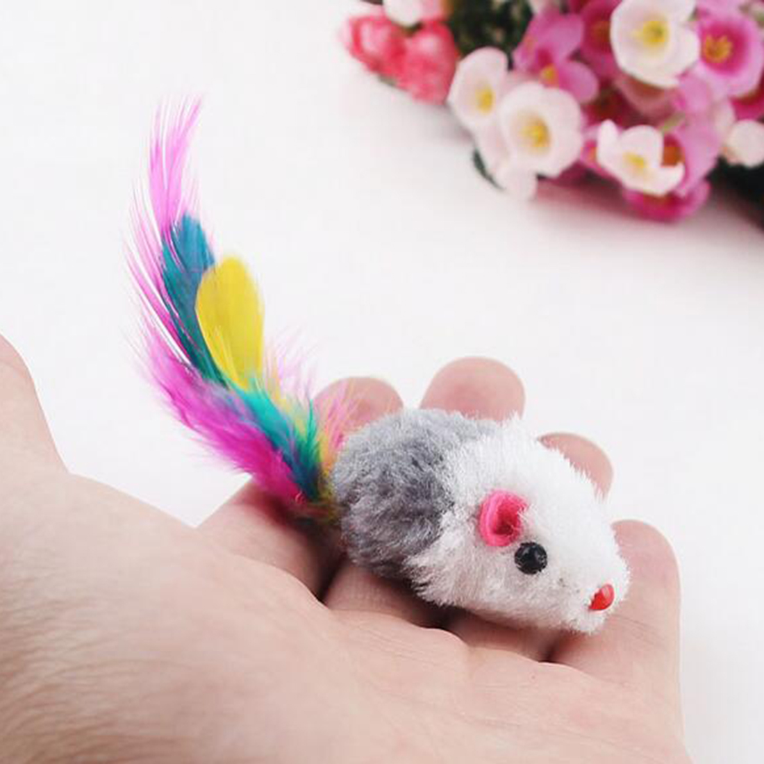 Fashion False Mouse Pet cat toys interactive Cheap Mini Funny Mice & Animal Mini Funny Playing Toys For Cats Kitten 4.5 x 2.5 cm