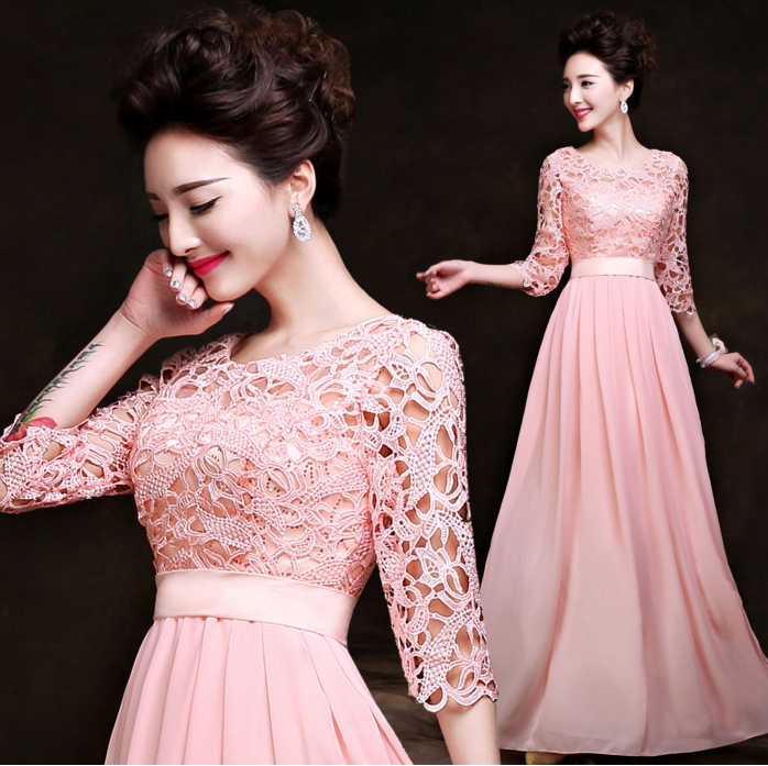 light pink formal a line sister of the bride dress plus size women ...