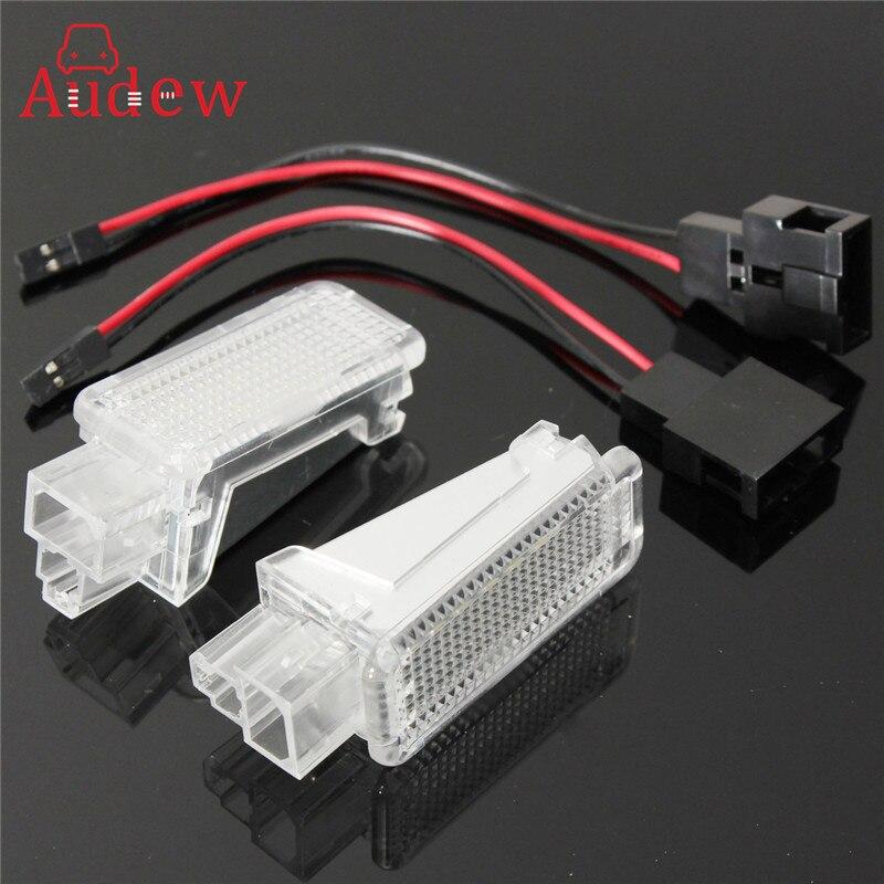 Caliente 2x LED coche de cortesía de la puerta logotipo láser proyector de luz suelo equipaje lámpara para AUDI/VW/SKODA Lambo