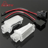HOT 2x LED Car Door Courtesy Laser Logo Projector Light Footwell Luggage Lamp For AUDI VW