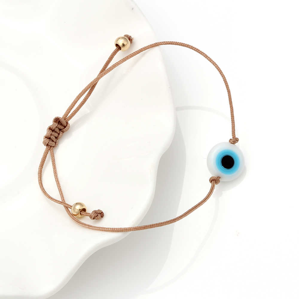 Lucky Eye Braided Blue Evil Eye สร้อยข้อมือสร้อยข้อมือสร้อยข้อมือ DIY เชือกเชือกสำหรับสาวเครื่องประดับของขวัญปรับ EY6175