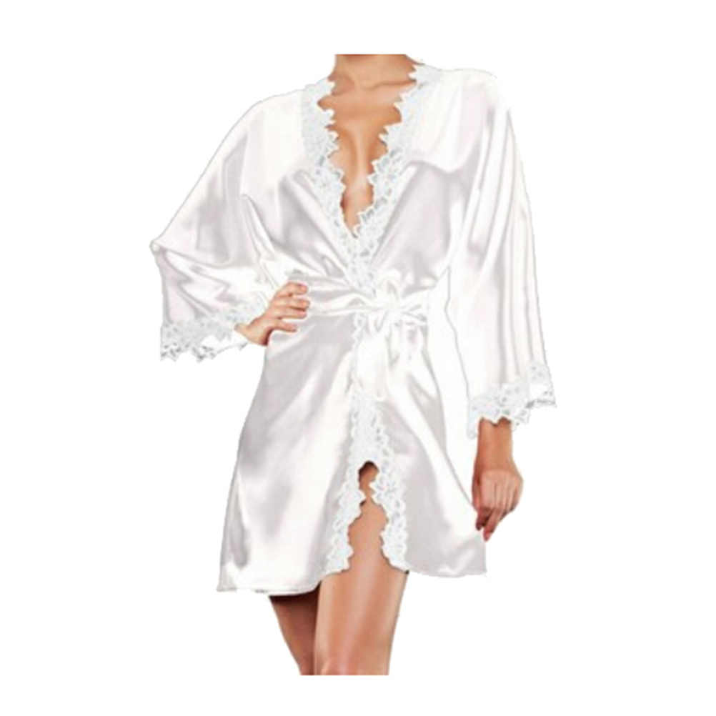 1caa92cc46 Detail Feedback Questions about Women Lace Sexy Satin Lingerie Robe ...