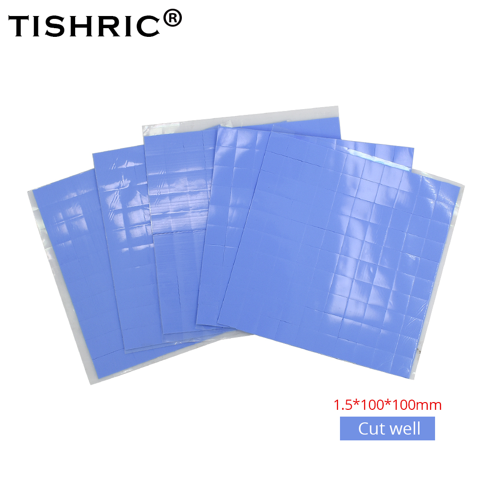 TISHRIC 1.5mm High Performace Fan Computer PC GPU CPU HeatsinkCooling Cooler Conductive Silicone Pad Thermal Pads