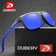 DUBERY Polarized Men Sunglasses Driving Sport Sun Glasses Male Square Mirror Luxury Brand Design Oculos UV400 D187