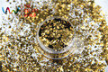 HM2104-233 Café Color de oro brillo metálico en Forma de Hexágono Glitter Lentejuelas de uñas BRICOLAJE decoración art decoraciones de Halloween