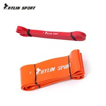 free shipping red and orange combination  power heavy duty resistance bands set strength gym fitness exercise workout