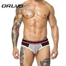 ORLVS Men's Sexy Underwear Mesh Breathable Briefs