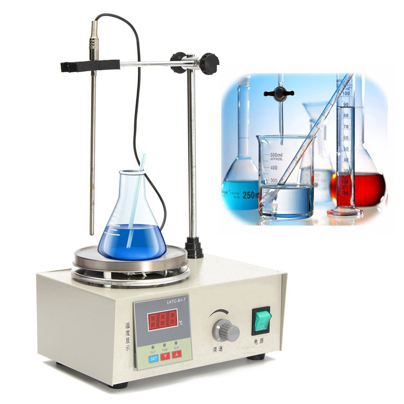 85-2 1000ml 200W 220V 50HZ Home Laboratory Magnetic Mixer Stirrer Heating Plate Hotplate Mixer Dual Control Temperature Dispaly