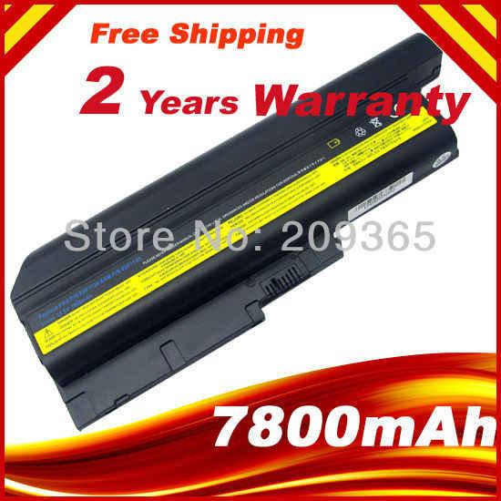 9 komórki bateria 7800mAh dla IBM Lenovo ThinkPad T60 T61 R60 R61 Z60 baterii 92P1133 42T4619 42T4511