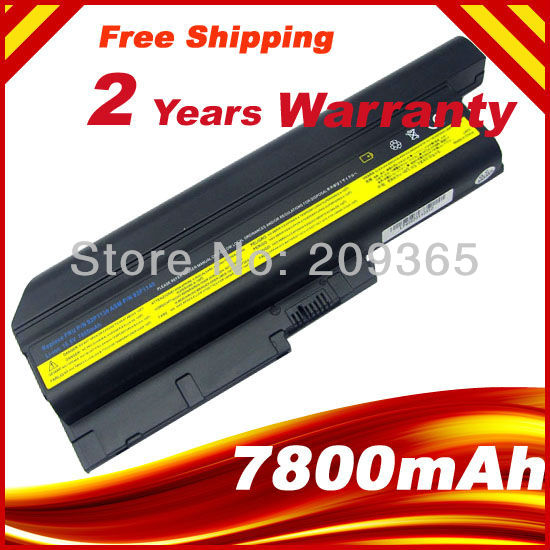 Bateria de 9 células 7800 mah para ibm thinkpad lenovo t60 t61 r60 r61 z60 bateria 92p1133 42t4619 42t4511
