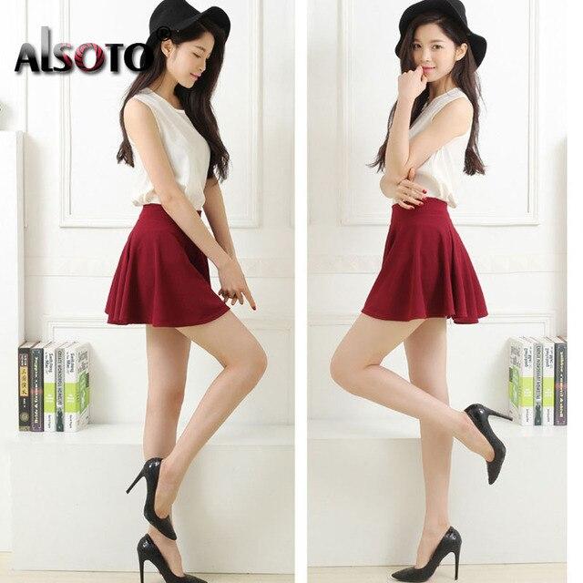 New 2019 Summer sexy Skirt for Girl Korean cute Short Skater Fashion female mini Skirt Women Clothing saia Bottoms jupe faldas 2