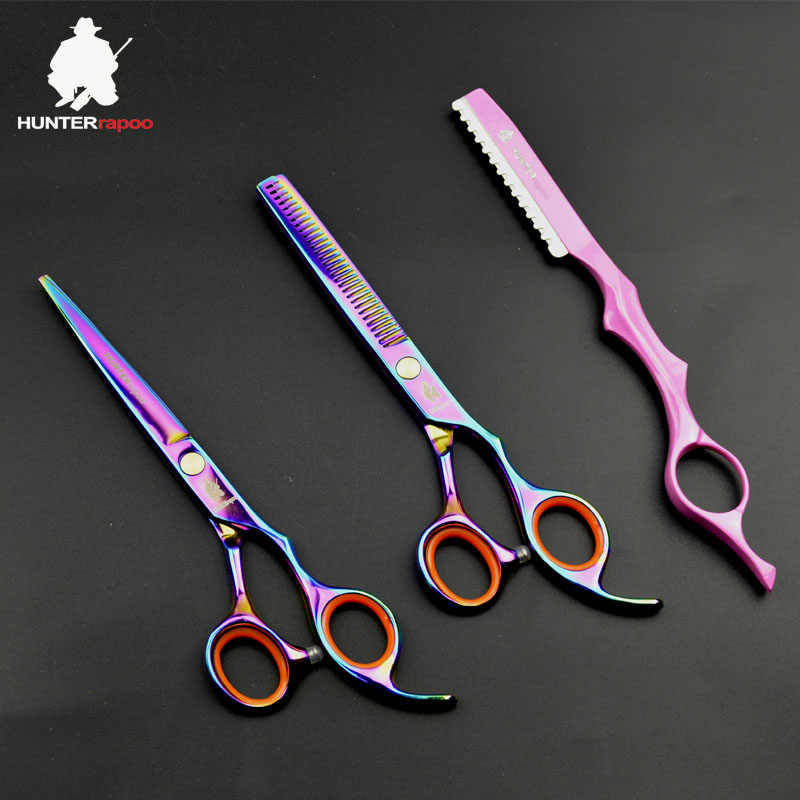 30% off HUNTERrapoo Hair Scissors set 6 INCH Hairdressing salons scissors Hair Cutting thinning shears barbershop scissors kit