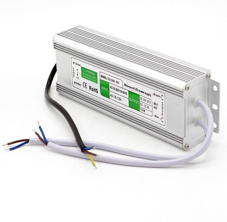12 v 12.5a 150 w interruptor impermeável 110 v/260 v da tira da fonte de alimentação do transformador do motorista para a câmera do cctv/diodo emissor de luz/monitor