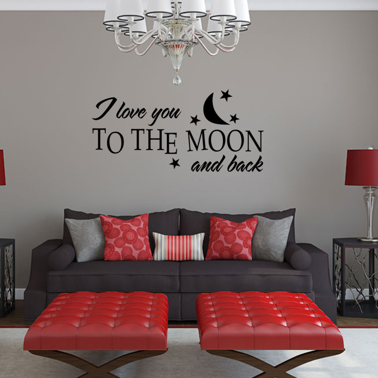 Buy aw9507 romantic i love you wall for Stickers chambre love