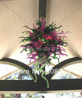 Free Shipping Hotel Lobby Blown Glass Bohemian Crystal Chandelier Lighting