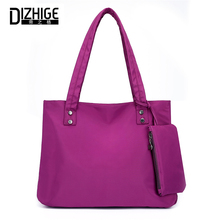 DIZHIGE Brand 2PC/Set Fashion Shoulder Bag Women Large Capacity Luxury Handbag For Women Solid Nylon Shoulder Bags Tote 2018 New цена и фото