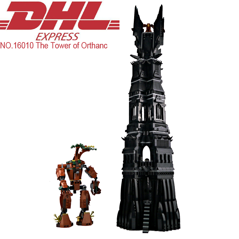 Lepin 16010 2430Pcs Lord of the Rings The Tower of Orthanc Model Building Kits Blocks Bricks Toys For Children Compatible 10237