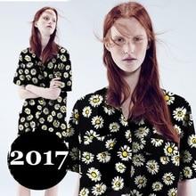 High quality cotton black background Daisy clothing fashion fabric cloth fabric.