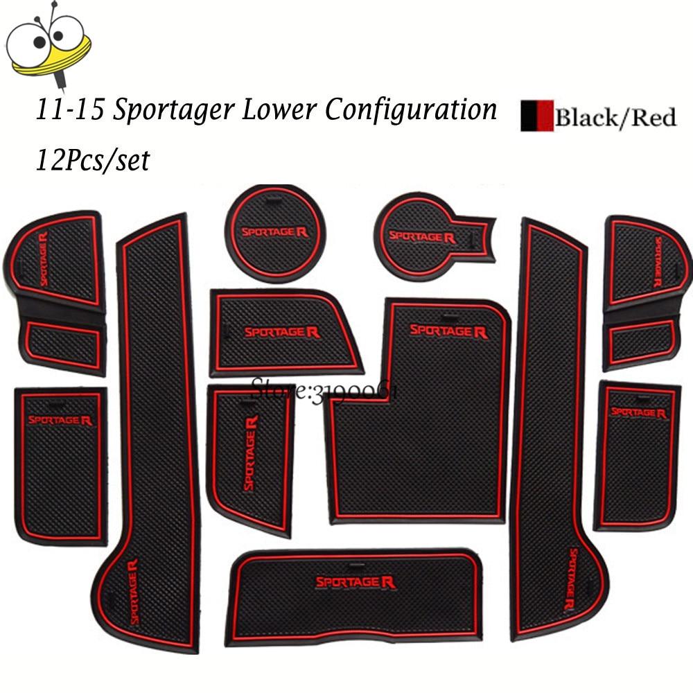 Car Interior Accessories Rubber Auto Luminous Door Pad Anti Slip Cup Holder Mat Cushion For KIA