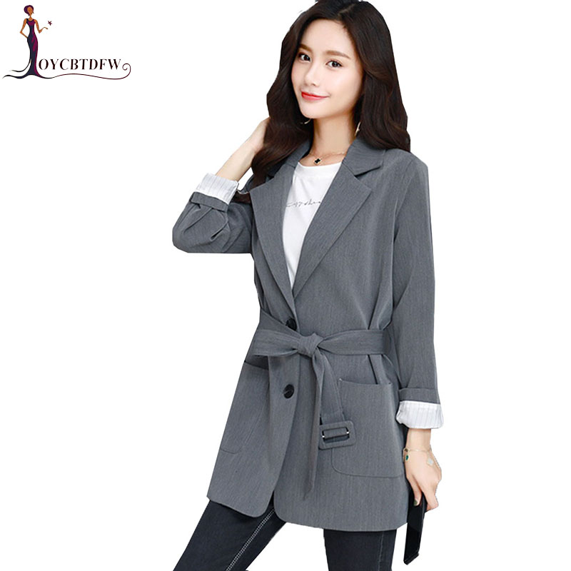 Spring Small Suit Female coat 2018 Autumn New Slim Fashion Solid Color Women Small Suit  ...