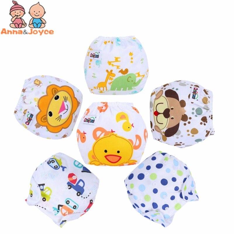 12pcs/Lot Boys Design Adjustable Baby Diapers Pant Washable Reusable Suit 3 to 13kg