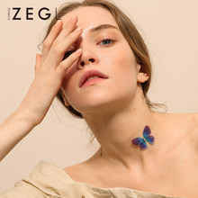 ZEGL butterfly necklace neck short necklace personalized necklace chokers necklaces for women(China)