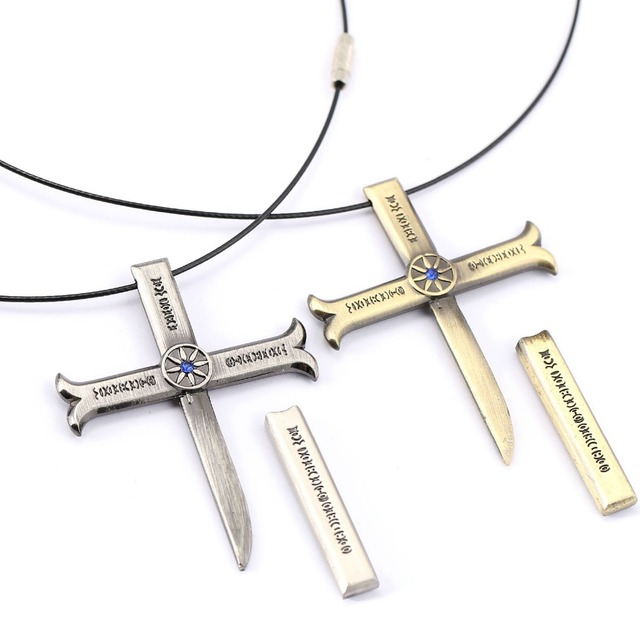 One Piece Dracule Cross Pendant Necklace