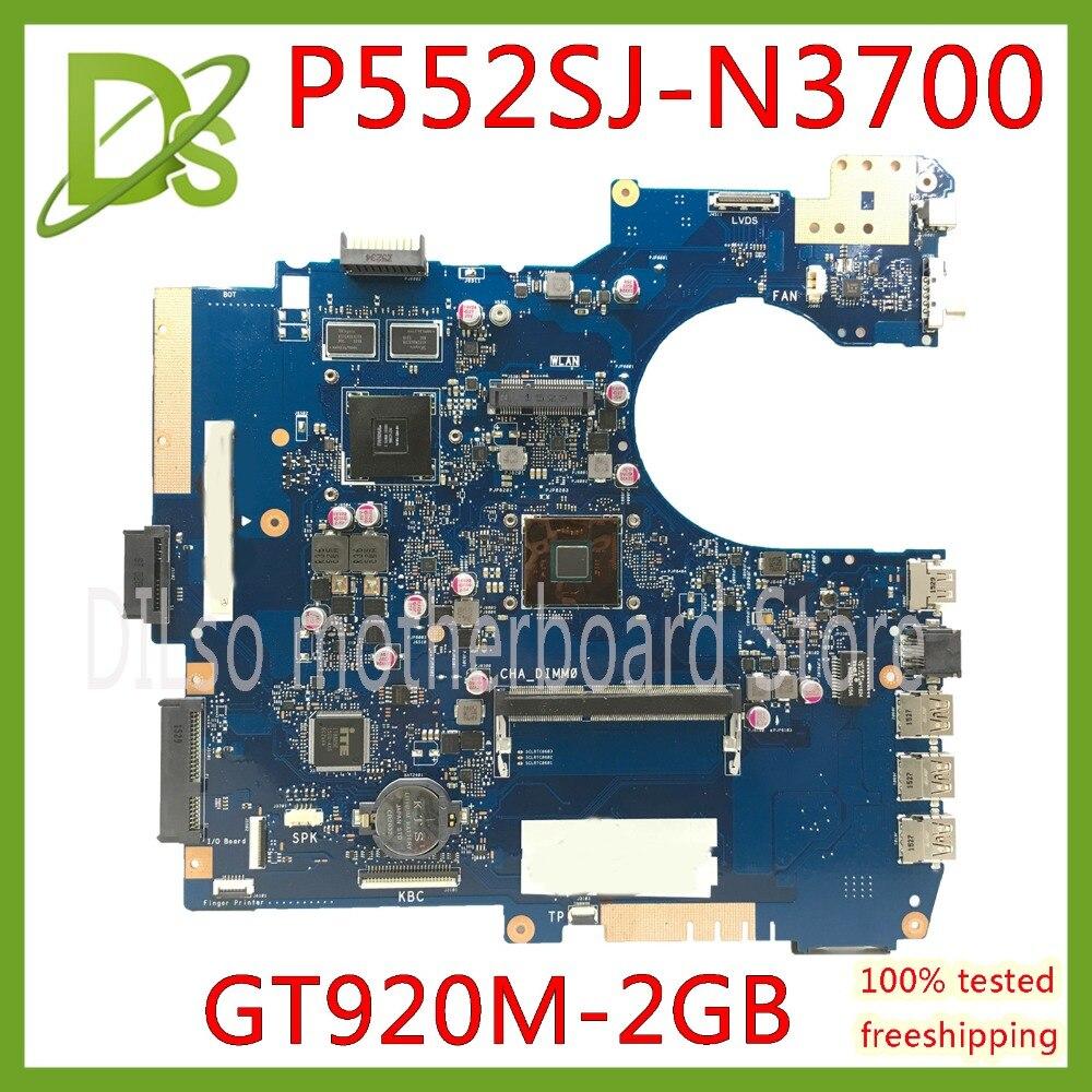 KEFU P552SJ Per ASUS P552SJ PU552SJ PRO552S P552S PU552S P552SA scheda madre Del Computer Portatile N3700 CPU GT920M 2 GB scheda madre di ProvaKEFU P552SJ Per ASUS P552SJ PU552SJ PRO552S P552S PU552S P552SA scheda madre Del Computer Portatile N3700 CPU GT920M 2 GB scheda madre di Prova