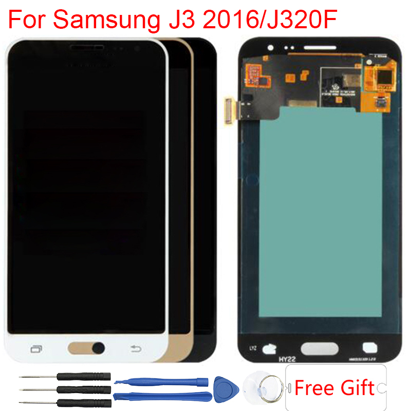 SM J320F LCD For Samsung J320F Display Amoled Adjustable Brightness LCD For Samsung Galaxy J3 2016 J320 J320FN SM-J320F/DS LCDSM J320F LCD For Samsung J320F Display Amoled Adjustable Brightness LCD For Samsung Galaxy J3 2016 J320 J320FN SM-J320F/DS LCD