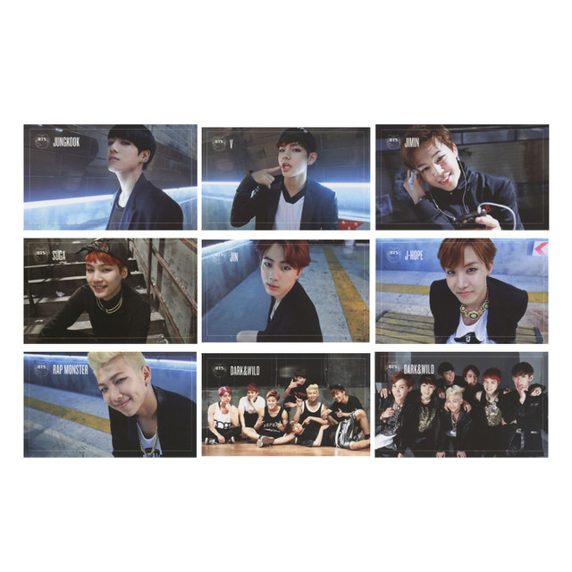 KPOP BTS Bangtan Boys ARMY DARK WILD O RUL8 2 MINI Album Photo Card Hip