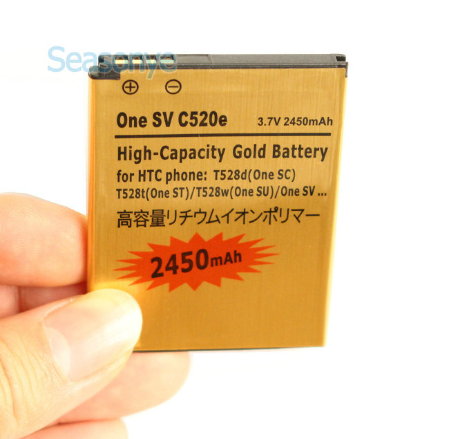 Seasonye 5x2450 мАч BM60100 Золото Замена Батарея для HTC Desire 500 One SV c520e T528d (Один SC) t528t (Один ST) T528W (Один SU)
