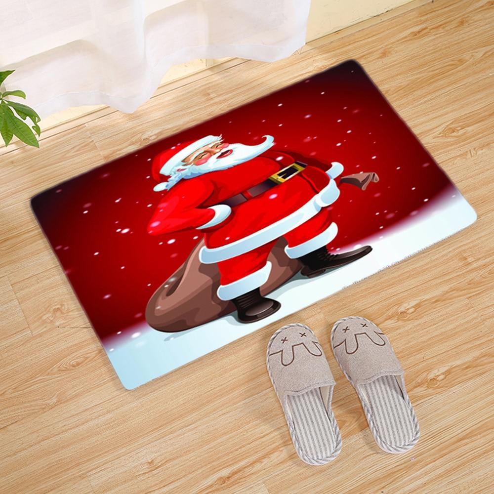 Foyer Rugs For Christmas: Christmas Entry Mat Merry Christmas Flannel Bath Mat Door