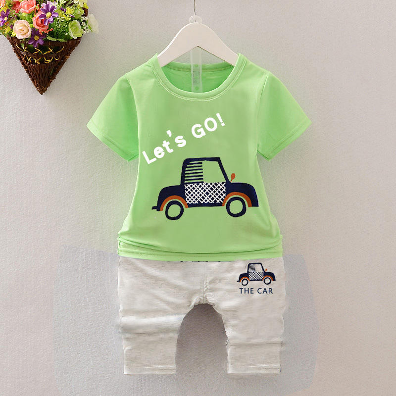 Summer Boys Girls Clothing set Baby cotton Outfits Sports suits Kids T shirt + Haren Shorts vetement garcon For 1 2 3 4 5 6 Yrs