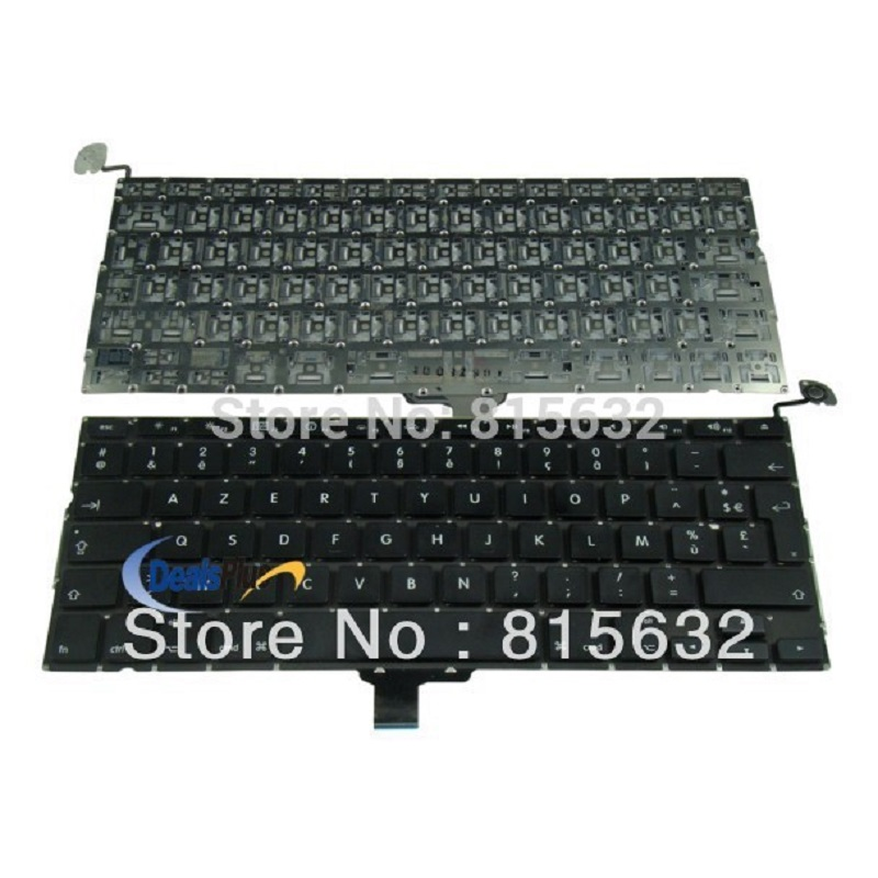 New French FR Keyboard For Macbook Pro 13 Unibody A1278 MB466 MB990 MC700 5pcs lot netherlands dutch keyboard for macbook pro 13 a1278 netherlands dutch keyboard mc700 mc724 md101 md102