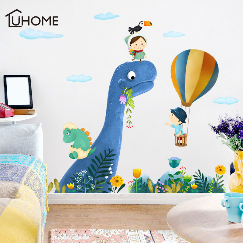 Animals At The Train Wall Stickers for Kids Room Bathroom Waterproof Home MW