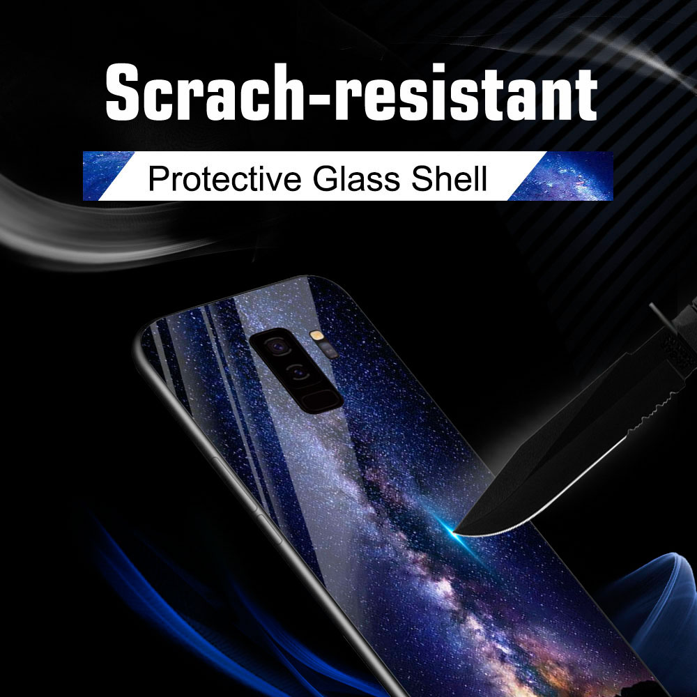 Tempered Glass Cases For Samsung Galaxy S8 S9 Plus Note 8 10 Plus G950F Case For Huawei Honor Note 10 Lite Cover Accessories in Fitted Cases from Cellphones Telecommunications
