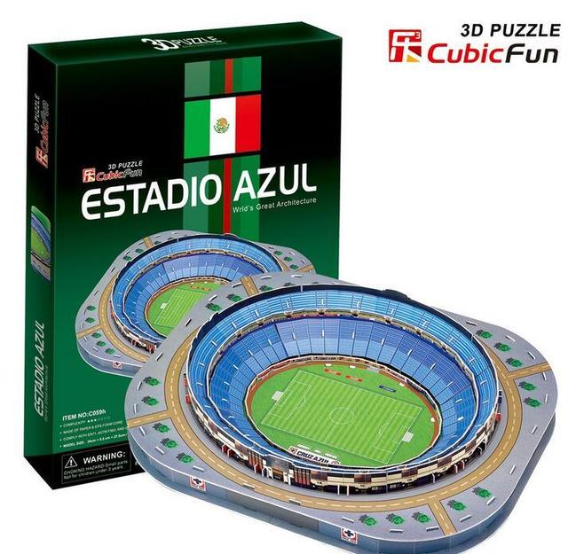 Средний Размер Куб. Весело 3D Бумаги Головоломки Мексика Стадионов Estadio Azul Модель C059H 92 шт. 34*27.5*5.5 СМ